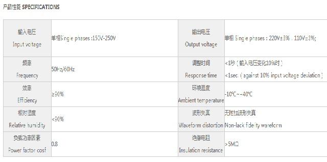 鸣川高精度TND系列稳压器