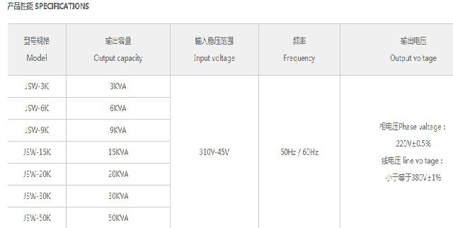 鸣川JSW系列精密净化稳压器