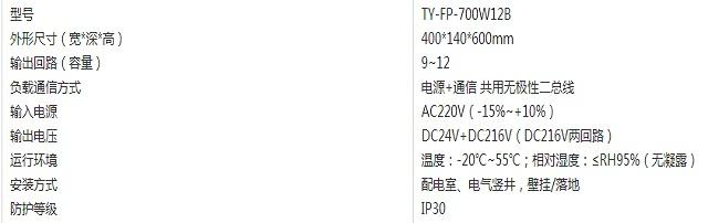台谊应急照明分配电装置TY-FP-700W12B
